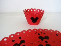 Mickey Mouse Cupcake wrapper by creationsbychoco on Etsy, $12.00