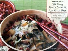 Vegans Rejoice! Another great #vegan dish from #traderjoes called Sai Tung Green Curry with Red Gaba rice
