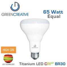 GREEN CREATIVE - CRISP - 13 Watt - BR30 - 65 Watt Equal - 92 CRI