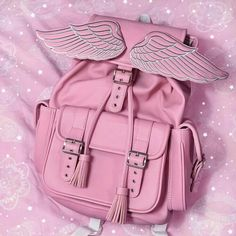 Find images and videos about fashion, pink and aesthetic on We Heart It - the app to get lost in what you love. Kawaii Bags, Kawaii Clothes, Kawaii Cute, Cute Mini Backpacks, Stylish Backpacks, Pink Outfits, Cute Outfits, Cute Headphones, Mode Kawaii
