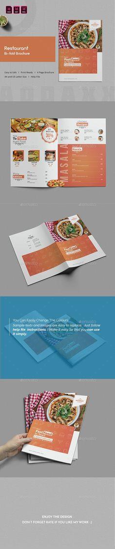 Restaurant Menu Template #FoodMenu #Template #Designs Restaurant