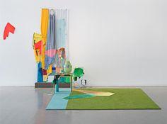 Jessica Stockholder, installation view of Sailcloth Tears, Mitchell-Innis & Nash, New York. Installation Street Art, Artistic Installation, Abstract Sculpture, Sculpture Art, Abstract Art, Contemporary Sculpture, Contemporary Art, Modern Art, Exhibition Display