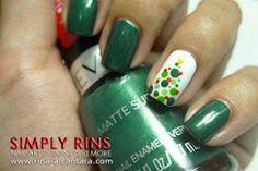 Polka Dot Christmas Tree Nail Design Tutorial!