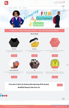 Website Design of Ben and Lydia, a fast growing school outfitter company catering for some notable schools and corporate organizations. They cater for both School Uniforms and Sports Wears and their partners are one of the best in the world in this sector.  #websitedesign   #website   #design   #Nigeria   #school   #uniform   #sportwear   #ecommerce