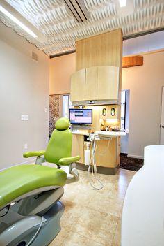 Treatment room at Mint Dental Studio, Bozeman, MT.