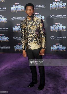 Actor Chadwick Boseman arrives for the premiere of Disney and Marvel's 'Black Panther' held at the Dolby Theatre on January 29, 2018 in Hollywood, California.