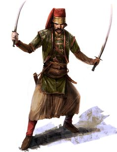 An Ottoman jhade defending the sultan. But i still got him to pose for a picture #ACrevaltions.