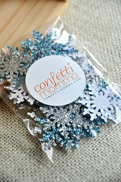 Frozen Birthday Party Decoration Confetti 50CT - Snowflake Confetti Mix- FREE SHIPPING on Etsy, $7.00