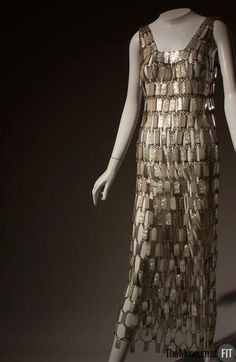 Evening dress Designer: Paco Rabanne 1934- Medium: Plastic and metal Date: c.1968