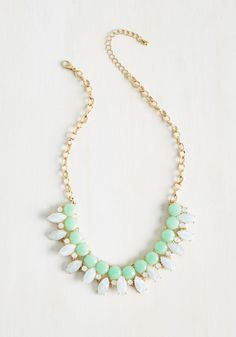 Elegant Acumen Necklace - Special Occasion, Cocktail, Girls Night Out, Bride, Pastel, Spring, Summer, Better, Mint, Statement, Gold