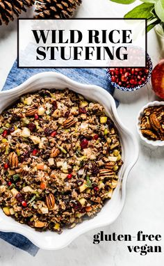 Learn how to make the best wild rice stuffing for turkey or chicken. Flavored w/ apples