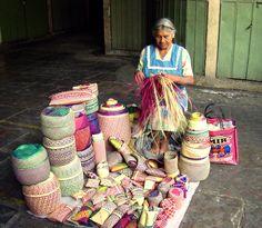 oaxaca mexico | Basket making in Oaxaca, Mexico
