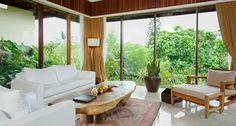 Komaneka at Rasa Sayang, Ubud Bali Hotels Resort Spa Ubud Bali Hotels, Porch Swing, Resort Spa, Outdoor Furniture, Outdoor Decor, Living Room, Luxury, Bed, Design