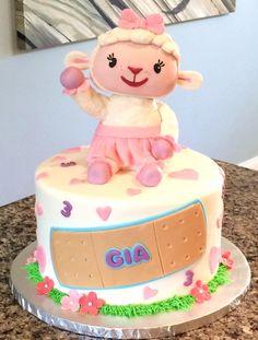Maine Custom Cakes - Doc McStuffins Lamby   Disney Cakes   Disney Cake Ideas   Disney Cakes and Sweets   Disney Cakes for Girls   Disney Cakes and Cupcakes  