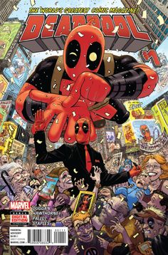 Deadpool #1 cover by Tony Moore.