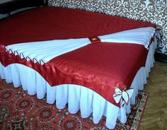 Red Bedding, Ruffle Bedding, Linen Bedding, Bedding Sets, Bed Cover Design, Designer Bed Sheets, Rideaux Design, Modern Curtains, Bed Styling