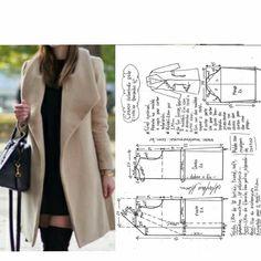 Japanese Sewing Patterns, Dress Sewing Patterns, Blouse Patterns, Clothing Patterns, Sewing Coat, Sewing Clothes, Diy Clothes, Blazer Pattern, Pants Pattern
