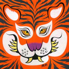 Print by Martin Ontiveros Fat Tiger, Chinese Tiger, Year Of The Tiger, Tiger Art, Popular Culture, Tigger, Art Inspo, Graphic Art, Street Art