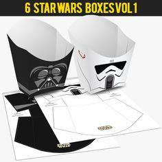 6 popcorn boîte Star Wars Vol j'ai par Migueluche sur Etsy