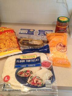 Breakfast Burritos 6 Gold hen Eggs 1 Premium Pork sausage 1/2 cup cheddar cheese 1/2 cup Casa Mamita Salsa 1/2 package fozen h...