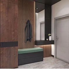 Design Your Own Home, Home Room Design, House Design, Built In Furniture, Hallway Furniture, Hallway Seating, Home Entrance Decor, Wardrobe Design Bedroom, Hallway Designs