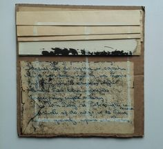 seria Recycling, Zaproszenie / Invitation, from the cycle Recycling ), mixed media, paper, 2016, M.Daniec