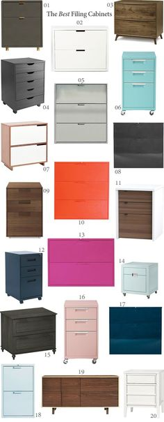 Just because a piece of furniture needs to be functional doesn't mean that it can't be beautiful as well. Here are a few of my favorite hardworking and good-looking pieces for storing your important files and documents