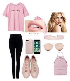"""""""Simple"""" by hannahrecord101 ❤ liked on Polyvore featuring MANGO, Citizens of Humanity, Common Projects, Givenchy, Linda Farrow and Humble Chic"""
