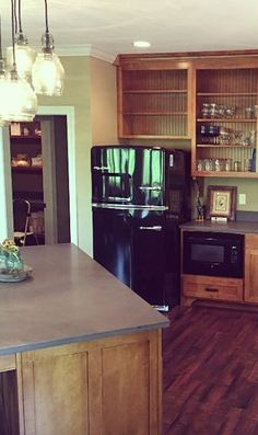 New Have you seen a cooler fridge Black Retro Refrigerator by Big Chill Words can