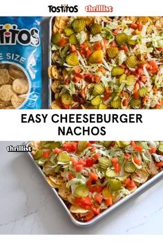 If nachos and a cheeseburger had a baby, this recipe would be it. Featuring #Tostitos Bite Size Rounds and lots of cheese. This recipe was developed by Eddie Sanchez and Thrillist. Recipes Appetizers And Snacks, Meat Recipes, Mexican Food Recipes, Dinner Recipes, Cooking Recipes, Healthy Recipes, Dinner Ideas, Tailgating Recipes, Grilling Recipes
