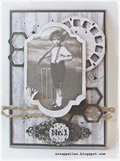 ScrappEllen: Vintage card for a boy ..