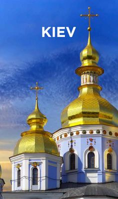 Kiev, Ukraine - The capital is filled for golden rooftops, ancient ruins, warm summer days for sunbathing, and historic artwork.