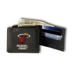 Miami Heat NBA Embroidered Billfold Wallet