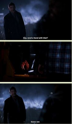 [GIFSET] 9X19 Alex Annie Alexis Ann...Dean was super worrying in this episode, from not caring about the girls life, to his practically good mood at seeing a person fed into a wood chipper, and then let's not forget the joy of chopping two vamps' heads off. Although on the plus-side, slightlyevil!dean is sexy as hell...
