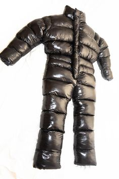 Glanznylon oversized and overfilled puffy suit image 4 Cool Jackets, Winter Jackets, Puffer Jackets, Nylons, Ski Suit Mens, Down Suit, Velcro Tape, Pokemon, Womens Wetsuit