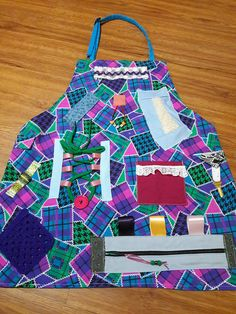 Fidget Apron For Alzheimer Or Dementia Patients Gift Grandparent Mothers Day