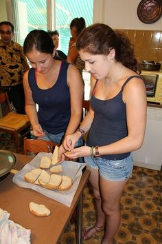 Bruschetta - coming right up!  .  #learnitalian #studyitalian #studyinitaly #travelitaly #italianculture #italianlanguage
