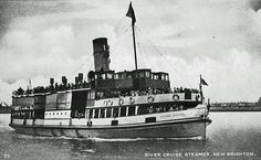 Royal Daffodil II (1934 -1962) Liverpool to New Brighton ferry across the River Mersey ~ I personally recall sailing on this ferry in the 1950s during summer holidays, I believe this to be one of my reasons for running away to sea at 17 .... the enjoyment of sea travel :)