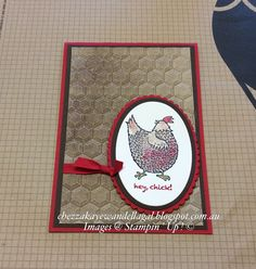 "Cheryl Algie ""Independent Stampin' Up! ® Demonstrator"" : PLAYING WITH NEW PRODUCTS"