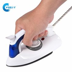 Mini Portable Foldable Electric Steam Iron For Clothes With 3 Gears Teflon Baseplate Handheld Flatiron For Home Travelling Iron Steamer, Intelligent Technology, Mini Iron, Laundry Appliances, Make Up Organiser, How To Iron Clothes, Steam Iron, Steam Cleaning, Electric