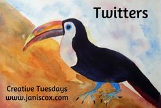 Creative Tuesdays Toucan bird by Janis Cox Prompt, Love Him, Childrens Books, Tuesday, God, Twitter, Creative, Painting, Animals
