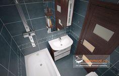 3D Дизайн ванной 170x170 плитка Edilgres (Португалия) серии Wish, тумба с раковиной и зеркалом БАЛИ 75