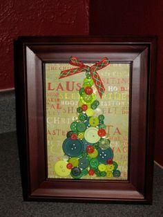 Christmas Button Tree Handmade by tarahdesigns Christmas Makes, All Things Christmas, Winter Christmas, Christmas Holidays, Christmas Crafts, Christmas Ideas, Christmas Buttons, Handmade Christmas, Button Tree