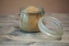 Chipping away at hardened brown sugar.