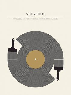 Gig posters are obviously where it's at. Here's Jason Munn's She & Him design.