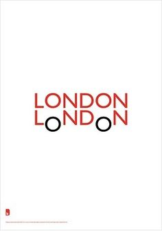 """very clever logo. A simple but creative design to use two """"londons"""" and made them look like their iconic red double-decker buses. The designer is Quentin Newark of Atelier Works. #wordmarks #logos"""