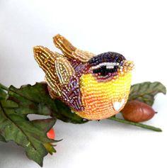 Pretty beaded birds by Meredith Dada