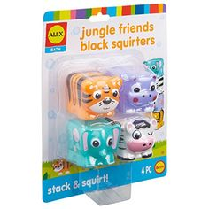 ALEX Toys Jungle Friends Block Bathtub Toy. For price & product info go to: https://all4babies.co.business/alex-toys-jungle-friends-block-bathtub-toy/