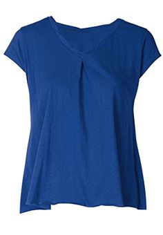 9f469c4756e Ellos Womens Plus Size Twisted VNeck Tee Dark Sapphire3X    For more  information