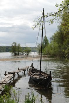 Viking Ship AndyJohansson This is a replica built viking ship at Birka, Sweden